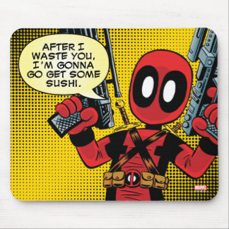 Mini Deadpool With Guns Mouse Pad