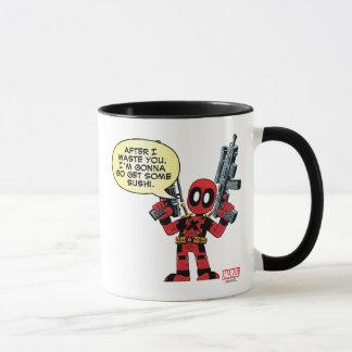 Mini Deadpool With Guns Mug