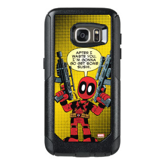 Mini Deadpool With Guns OtterBox Samsung Galaxy S7 Case