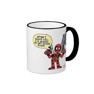 Mini Deadpool With Guns Ringer Mug