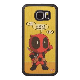 Mini Deadpool Wood Phone Case