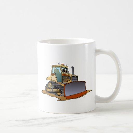 Mini dibujo animado de la niveladora taza