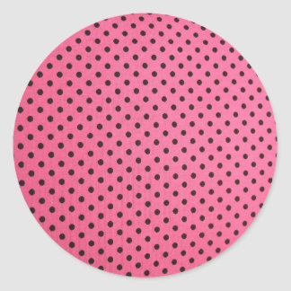 mini dots on pink classic round sticker