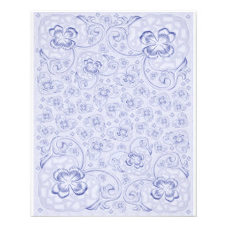 Mini Doublesided paper Pastel blue floral