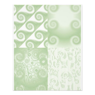 Mini Doublesided paper Pastel green regal swirls