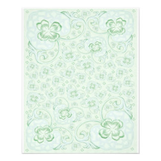 Mini Doublesided paper Pastel turquoise floral