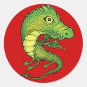 Mini Dragon Classic Round Sticker