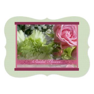 """Mini ducha nupcial color de rosa rosada 1b invitación 5"""" x 7"""""""