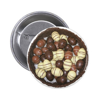 Mini Easter eggs in chocolate nest Pinback Button