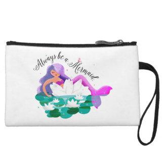 Mini embrague de agua de la sirena linda del lirio