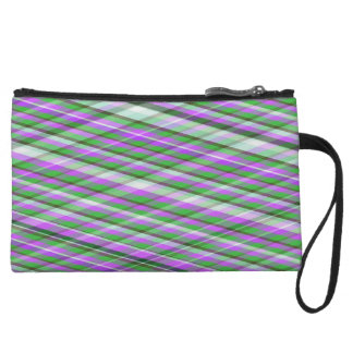 Mini embrague del mitón púrpura, rosado y verde de
