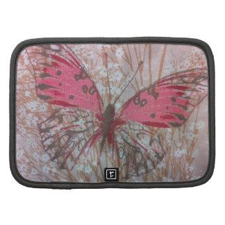 Mini en folio butafly del carrito de moda rosado planificadores