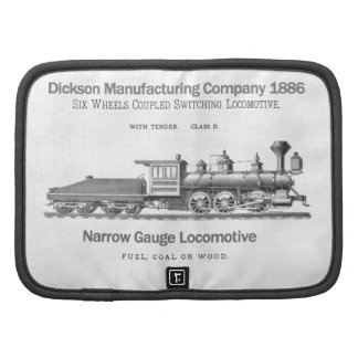 Mini en folio de la locomotora 1886 de la transfer organizadores