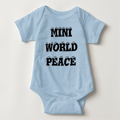 Mini enredadera infantil del azul de la paz de body para bebé