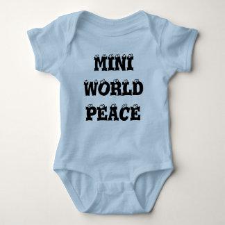 Mini enredadera infantil del azul de la paz de remeras