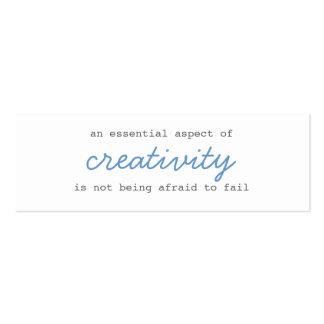 mini escritura de las tarjetas de la creatividad tarjetas personales