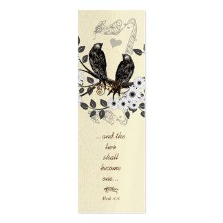 Mini etiquetas de la señal o del boda del vintage tarjeta de negocio