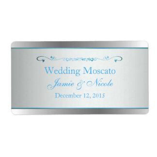Mini etiquetas del vino de la bodas de plata gris etiqueta de envío