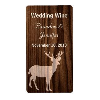 Mini etiquetas del vino de la vida salvaje de made etiquetas de envío