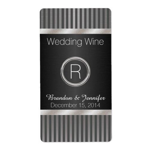 Mini etiquetas elegantes del vino de la bodas de etiqueta de envío
