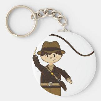 Mini explorador con Bullwhip Llavero Redondo Tipo Pin