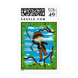 Mini Explorer on Jungle Vine Stamp