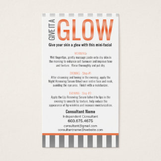 Mini-Facial Instruction Card - LOVE YOUR SKIN