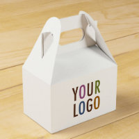 Mini Favor Gift Box with Handle Custom Logo & Text