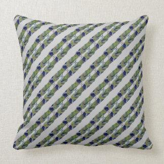 Mini flips-flopes rayados (azul/verde) almohadas