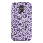 Mini flores púrpuras funda de galaxy s5