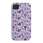 Mini flores púrpuras vibe iPhone 4 funda