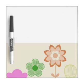 Mini Flowers Dry Erase Board with Pen