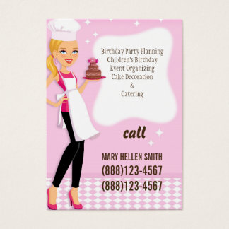 Mini Flyer Cake Decorator Party Planner Card