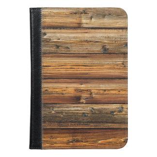 Mini folio del iPad de madera de la cabina