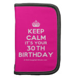 [Crown] keep calm it's your 30th birthday  Mini Folio Planners