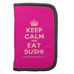 [Crown] keep calm and eat sushi  Mini Folio Planners
