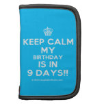 [Cupcake] keep calm my birthday is in 9 days!!  Mini Folio Planners