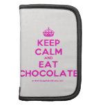 [Crown] keep calm and eat chocolate  Mini Folio Planners