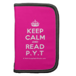 [Crown] keep calm and read p.y.t  Mini Folio Planners