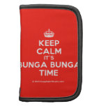 [Crown] keep calm it's bunga bunga time  Mini Folio Planners