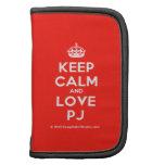 [Crown] keep calm and love pj  Mini Folio Planners