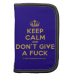 [Dancing crown] keep calm and don't give a fuck  Mini Folio Planners