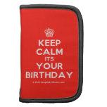 [Cupcake] keep calm its your birthday  Mini Folio Planners