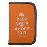 [Crown] keep calm and #hope 2013  Mini Folio Planners