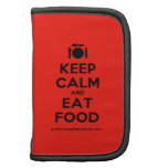 [Cutlery and plate] keep calm and eat food  Mini Folio Planners