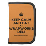 [Crown] keep calm and eat at wrapworks deli  Mini Folio Planners