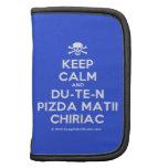 [Skull crossed bones] keep calm and du-te-n pizda matii chiriac  Mini Folio Planners