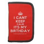 [Crown] i cant keep calm its my birthday  Mini Folio Planners