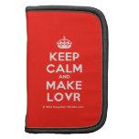 [Crown] keep calm and make lovr  Mini Folio Planners
