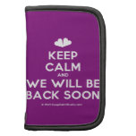 [Two hearts] keep calm and we will be back soon  Mini Folio Planners